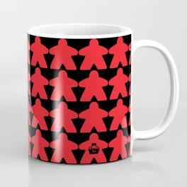 Red Meeples by Blackburn Ink Coffee Mug
