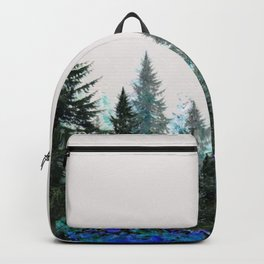 MOUNTAIN FOREST PINES LANDSCAPE  ART Backpack
