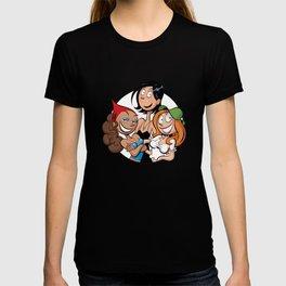 Pastille de Jenny, Vicky et Karine en motif T-shirt