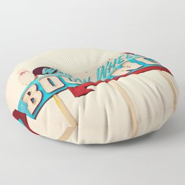 Wagon Wheel Bowling  Floor Pillow