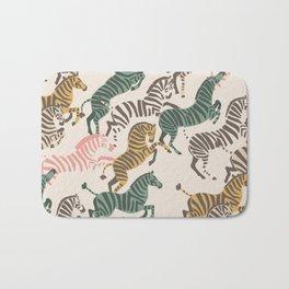 Zebra Stampede Bath Mat
