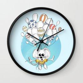 Rikiki the mouse and his balloons Wall Clock