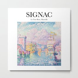 Signac - La Tour Rose, Marseille Metal Print