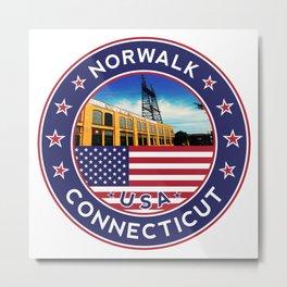 Norwalk, Connecticut, Norwalk sticker, Norwalk t shirt, Metal Print