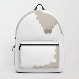 Kids Valentine Gray Sheep Wearing Heart Glasses Backpack