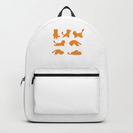 Cat Exercise Funny Cute Cat Animal Pet Owner Gift Backpack