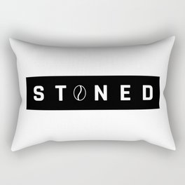 Stoned Coffee Addict Rectangular Pillow