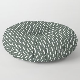 Dots and Dashes . Olive Floor Pillow
