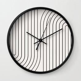 Minimal Line Curvature I Wall Clock