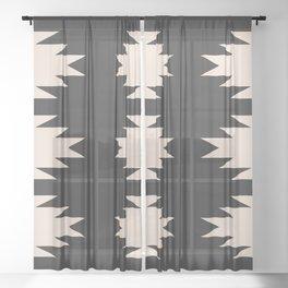 Minimal Southwestern - Charcoal Sheer Curtain