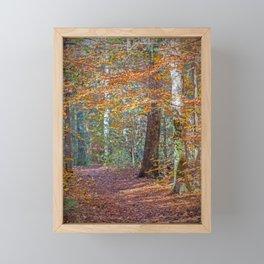 Rust Fall Forest Framed Mini Art Print