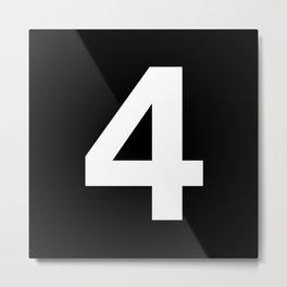Number 4 (White & Black) Metal Print