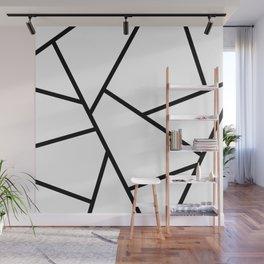 Black and White Fragments - Geometric Design I Wall Mural