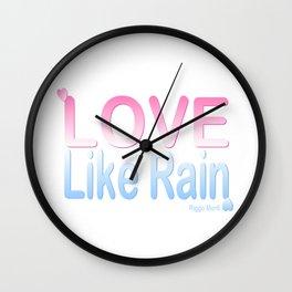 Riggo Monti Design #13 - Love Like Rain Wall Clock