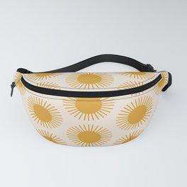 Golden Sun Pattern Fanny Pack
