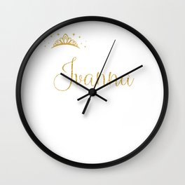Queens Are Named Ivanna Personalized First Name Girl design Wall Clock
