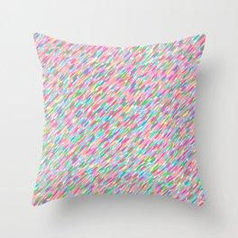 it's raining sideways! rainbow edition Throw Pillow