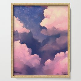 Cloudy Sky Painting Serving Tray