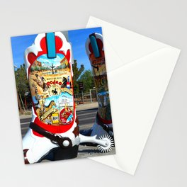 Pecos Texas cowboy boots Stationery Cards