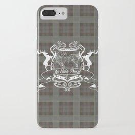 Outlander plaid with Je Suis Prest crest iPhone Case