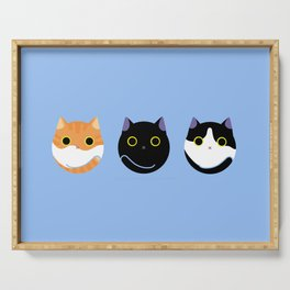 Cat Dango Blue:Yema,Duke and Maki Serving Tray