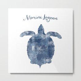 Turtle Marine Lagoon habitat Metal Print