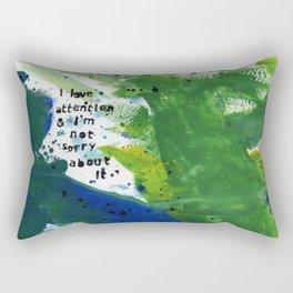 I Love Attention Rectangular Pillow