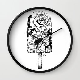 Floral Popsicle III (Rose & Peony) Wall Clock