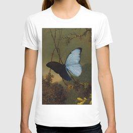 Blue Morpho Butterfly 1865 By Martin Johnson Heade | Reproduction T-shirt
