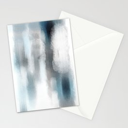 Pastel blue and white minimal painting Stationery Cards