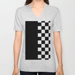 CHECK BOARD (BLACK-WHITE) Unisex V-Neck