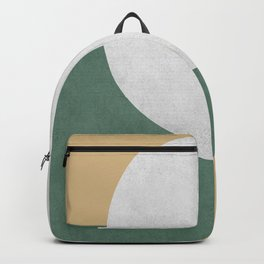 Halfmoon Colorblock - White Green on Gold Backpack