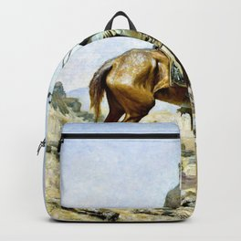 Frederic Remington - The Lookout - Digital Remastered Edition Backpack