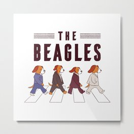 The Beagles Metal Print