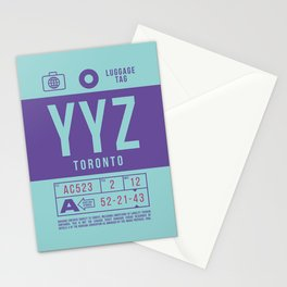 Baggage Tag B - YYZ Toronto Canada Stationery Cards