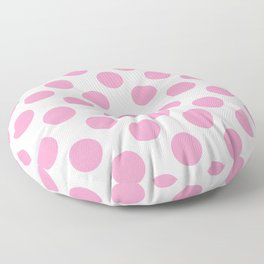 Light Pink Large Polka Dots Pattern Floor Pillow