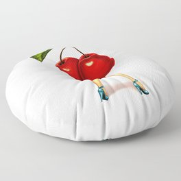 Cherry Girl Floor Pillow