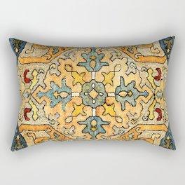 Azerbaijani Southeast Caucasus 18th Century Silk Embroidery Print Rectangular Pillow