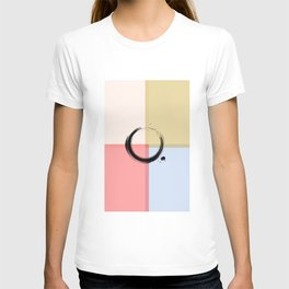 Zen Art ENSO Circular Form Abstract Colored T-shirt