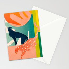 tropical cats Stationery Cards