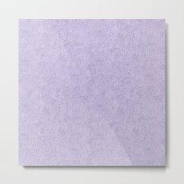 Nappy Faux Velvet in Pale Lilac Metal Print