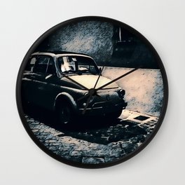 Vintage 500 in Italian Noir Wall Clock