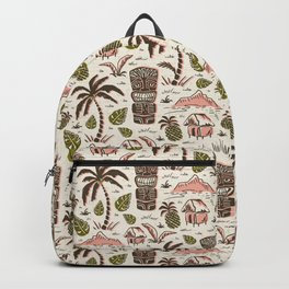 Tiki Party - Ivory Pink Backpack