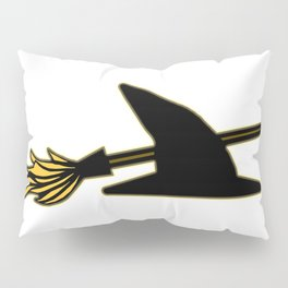 Witch Hat & Broomstick Pillow Sham