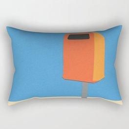 Orange Trash Can Rectangular Pillow