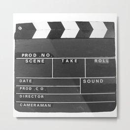 Film Movie Video production Clapper board Metal Print