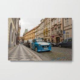 Trabant on the street of Prague Metal Print
