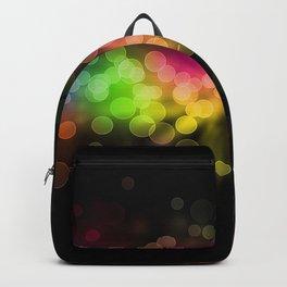 glare, rainbow, circles, backgrounda Backpack
