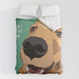 Golden Retriever dog-Don't leave me! Comforters