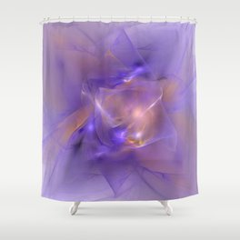 Folds in Purple and Orange Shower Curtain